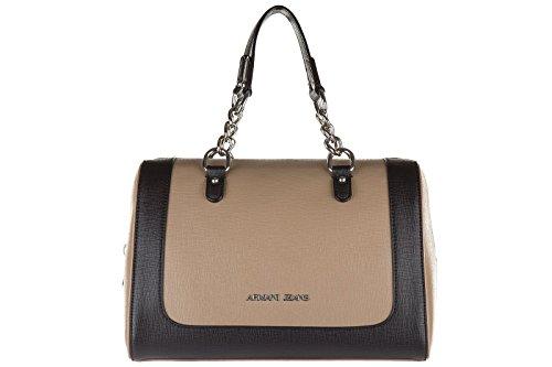 Armani Jeans women's handbag barrel bag purse boston brown