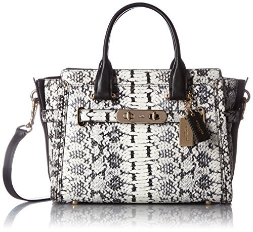 COACH Women's Color Block Exotics Coach Swagger 27 LI/Black Satchel
