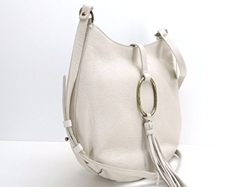 Lucky Brand Ring Crossbody White Leather Handbag