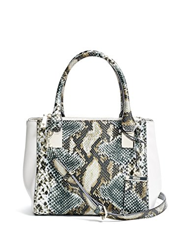 GUESS Camylle Python-Print Status Satchel