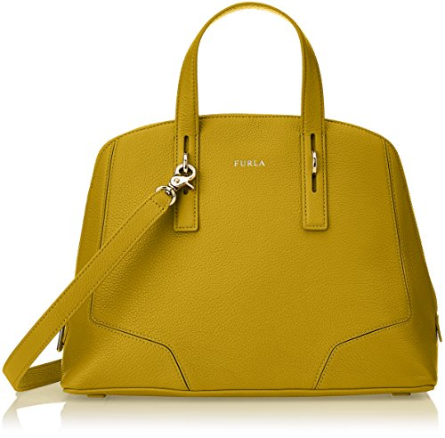 Furla Perla Satchel Ber9 VMT Leather Girasole Shoulder Bag
