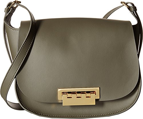 ZAC Zac Posen Eartha Iconic Saddle Olive Cross Body Handbags