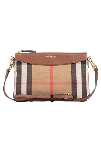 Burberry Horseferry Check Leather Clutch – Tan