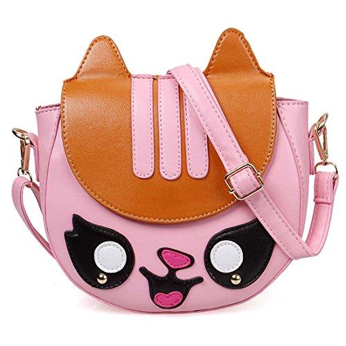 BMC Colorful Faux Leather Animal Face Shaped Fashion Clutch Handbag