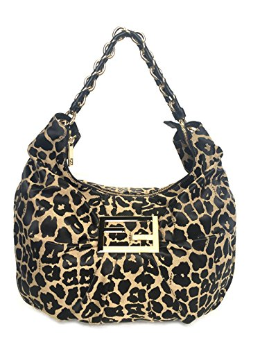 FENDI BLACK LEOPARD SHOULDER BAG 8BR631-HJD-UTQ
