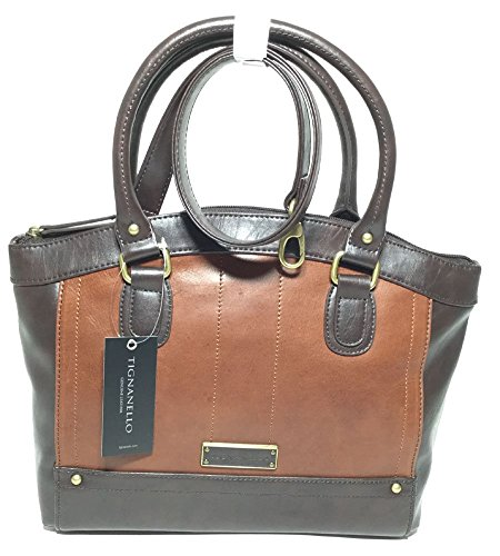 Tignanello Hide and Seek Satchel Rust/Brown T15008A
