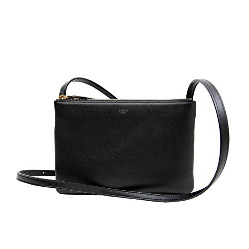 Celine Trio Crossbody Handbag Black