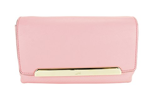 Christian Louboutin Womens Rougissime Small Calf Paris Clutch Handbag – Pink