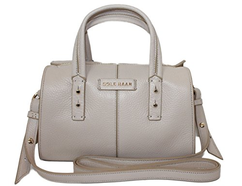 Cole Haan Womens Pebble Leather Emma Mini Satchel Shoulder Crossbody Bag_White
