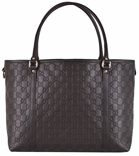 Gucci Women's Brown Leather GG Guccissima Joy Handbag Tote