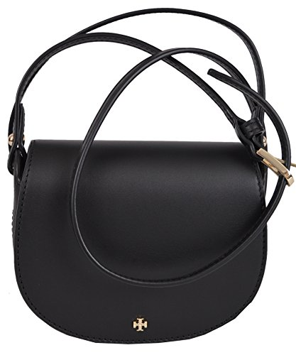 Tory Burch Mini Saddlebag in Black
