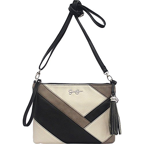 Jessica Simpson Helena Crossbody Clutch (Black/Cloud Grey/Truffle)