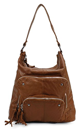 Scarleton Soft Washed Double Front Pocket Shoulder Bag H1803