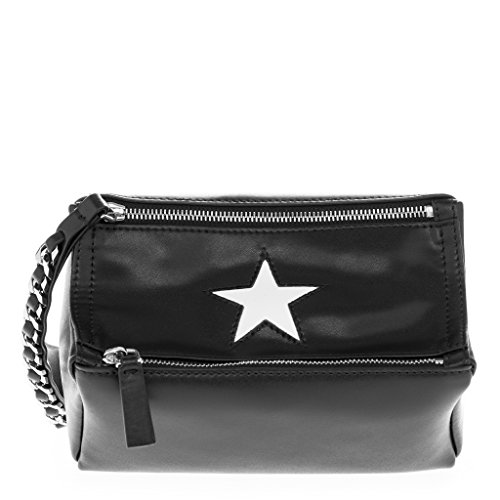 Givenchy Women's Small Pandora 'Star' Wristlet Bag Black White