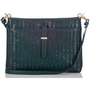 Brahmin All Day Convertible Teal Woven Luxe Crossbody