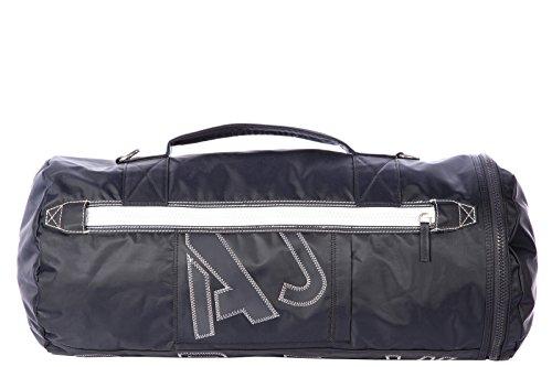 Armani Jeans travel duffle weekend shoulder bag Nylon blu