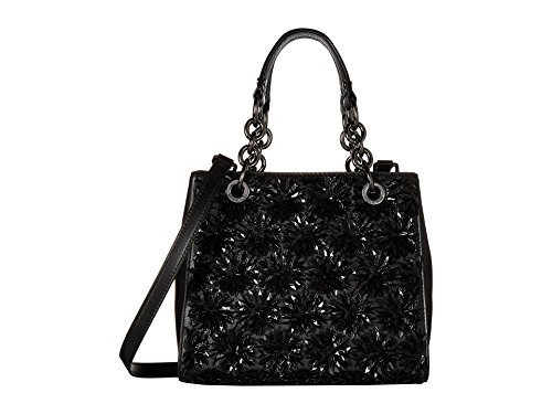 MICHAEL Michael Kors Flora Burst Small North South Satchel Sequins Black