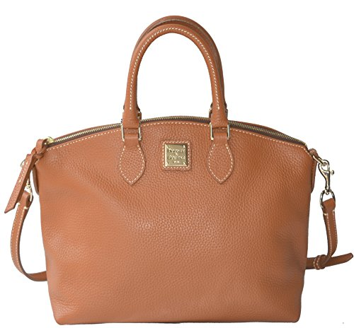 Dooney & Bourke Leather Satchel Handbag Bag Purse Camel Pebble Grain