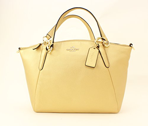Coach Pebble Leather Sm Kelsey Satchel – Gold