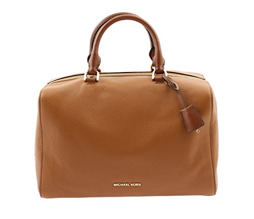 Michael Kors Kirby Large Leather Satchel (Acorn) – 30T6GK3S3L ACORN
