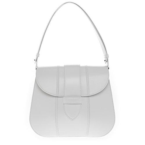 Alaia Women's Smooth Shoulder Bag White