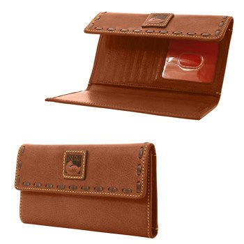 Dooney & Bourke Florentine Continental Clutch Chestnut/Self Trim