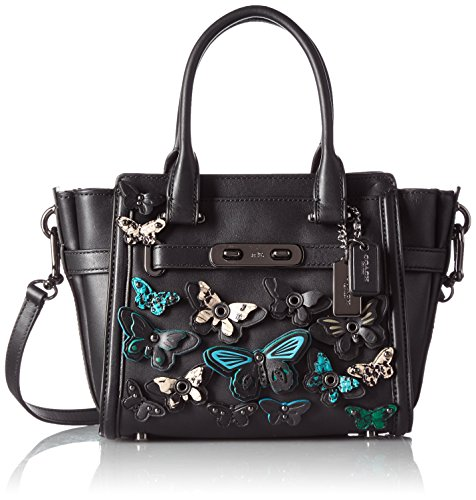 COACH Women's Butterfly Applique Coach Swagger 21 DK/Black Multi Satchel