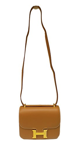 Hermès Constance Caramel Brown Crossbody Shoulder Bag Handbag
