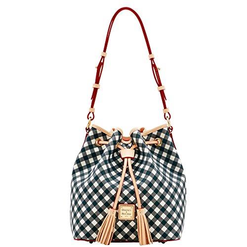 Dooney & Bourke Gingham Kendall Drawstring Bag Purse Handbag