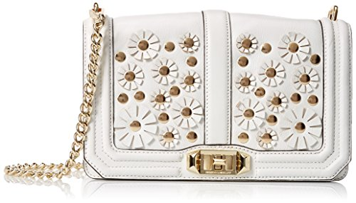 Rebecca Minkoff Love Crossbody Shoulder Bag, White, One Size