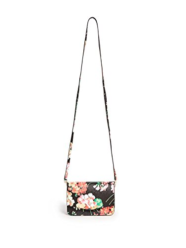GUESS Women's Jules Floral-Print Mini Crossbody