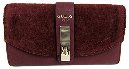 GUESS Women's Kingsley SLG Slim Clutch Wallet, Bordeaux