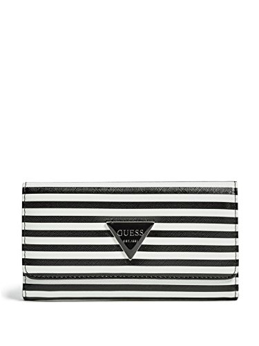 GUESS Women's Abree Striped Slim Wallet