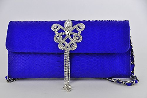 Exotic Genuine Snake Python Skin Elegant Evening Clutch/Handbag