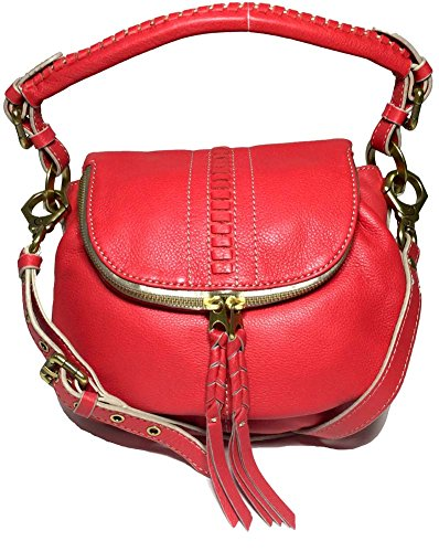orYANY Hannah Leather Flat Crossbody Bag, Berry