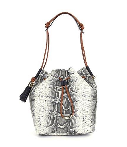 Vince Camuto Lorin Python-Embossed Bucket Bag