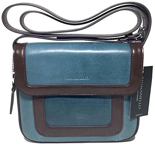 Tignanello Vintage Item Cross Body Juniper/Dark Brown T57010A