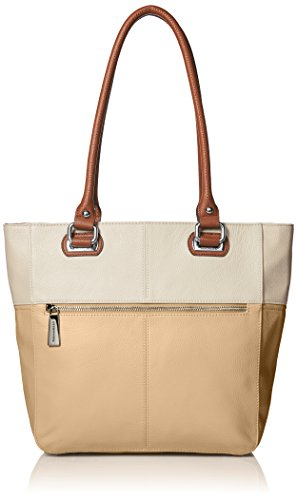 Tignanello Perfect Pockets Medium Tote Bag, Dune/Eggshell/Cognac, One Size