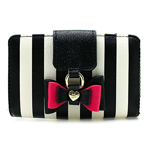 Betsey Johnson Stripe Bow Wallet
