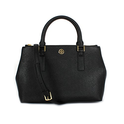 Tory Burch Robinson Double Zip Mini EW tote Black