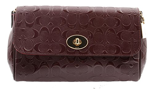 Coach Ruby Signature Debossed Patent Leather Crossbody Clutch, F55452
