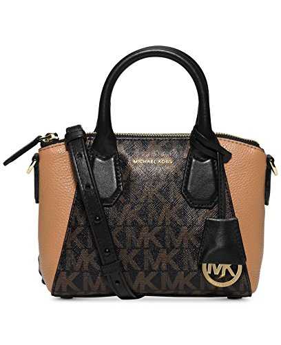 Michael Kors Campbell Mini Satchel Small Brown/Gold Handbag