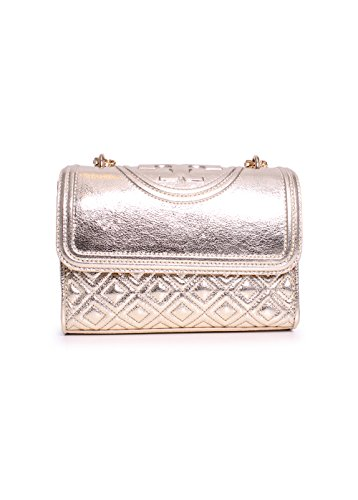 Tory Burch Fleming Small Convertible Shoulder Bag in Spark Gold