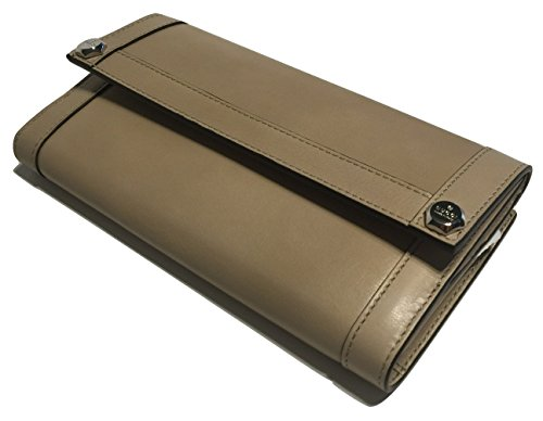 Gucci 231835 Washed Softcalf Cream Leather Continental Wallet Clutch