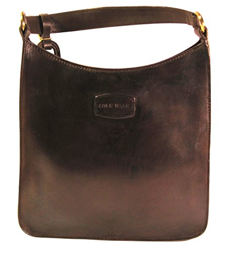 Cole Haan Woman's Tote, All Leather Handbag, Dark Brown/Black, 11 x 9 x 10 Inches