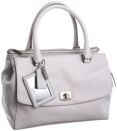 Coach Leather Pinnacle Harper Convertible Satchel Bag 23562 Pearl Grey