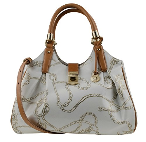 Brahmin Nautical Collection Women's Chain Print Elisa Hobo Shoulder Bag Handbag-GN