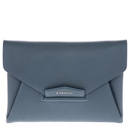 Givenchy Women's Medium 'Antigona' Grained Envelope Clutch Cerulean Blue