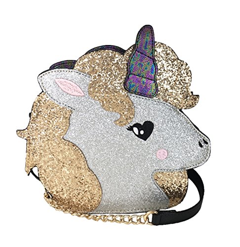 Betsey Johnson Toot Your Own Horn Unicorn Crossbody (Metallic)