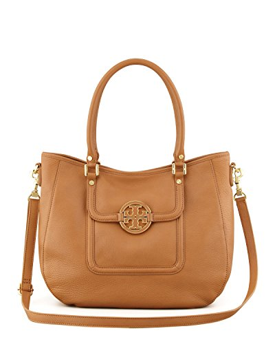 Tory Burch Amanda Classic Hobo Leather Bark Bag
